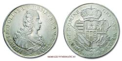 World Coins - Grand Duchy of Tuscany Pietro Leopoldo I FRANCESCONE 1768 Florence SILVER 45/70 RARE (R) Italian coin for sale