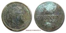Kingdom of the Two Sicilies Ferdinand II 10 TORNESI 1846 Naples VERY RARE (RRR) italian coin