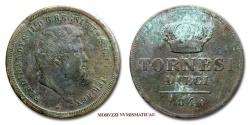 World Coins - Kingdom of the Two Sicilies Ferdinand II 10 TORNESI 1846 Naples VERY RARE (RRR) italian coin