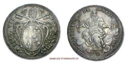 World Coins - Pope Pius VII SCUDO 1802 AN III (number 1 of the date inverted) SILVER 45/70 RARE (Pagani 60a) Papal coin for sale