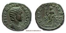 Ancient Coins - Julia Mamaea SESTERTIUS 222-235 AD FELICITAS PVBLICA S C Roman coin for sale