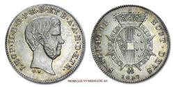 World Coins - Grand Duchy of Tuscany Leopold II 1/2 PAOLO 1857 Florence SILVER 55/70 RARE (R) Italian coin for sale