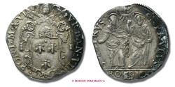 World Coins - Papal States Urban VIII TESTONE A. VI SILVER papal coin
