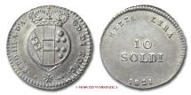 Grand Duchy of Tuscany Ferdinand III MEZZA LIRA (10 SOLDI) 1821 Florence SILVER RARE (R) italian coin