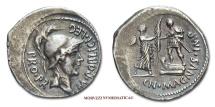 Cnaeus Pompeius Magnus (Pompey The Great) DENARIUS 46-45 BC CN MAGNVS IMP Hispania roman coin