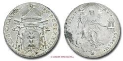 World Coins - PAPAL STATES VACANT SEES 1823 1/2 SCUDO 1823 BOLOGNA papal coin