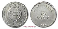 World Coins - Grand Duchy of Tuscany Ferdinand III MEZZA LIRA (10 SOLDI) 1821 Florence SILVER RARE (R) italian coin