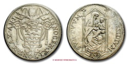 World Coins - PAPAL STATES INNOCENT XI TESTONE AN I VERY RARE (RR) papal coin