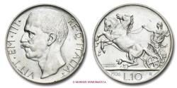 World Coins - KINGDOM OF ITALY VICTOR EMMANUEL III 10 LIRE 1926 BIGA BORDO LARGO RARE (R) italian coin