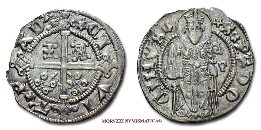 World Coins - Padua Jacopo II da Carrara CARRARINO DA 2 SOLDI SILVER 45/70 SCARCE (NC) Italian coin for sale