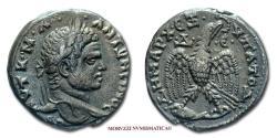 Ancient Coins - Caracalla SILVER TETRADRACHM 215-217 AD #DHMARC EXUPATO D# / #D-E# Eagle Antioch on the Orontes 50/70 Roman provincial coin for sale