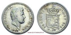 World Coins - Kingdom of the Two Sicilies Ferdinand II of Bourbon 10 GRANA 1839 Naples SILVER 40/70 VERY RARE (Pannuti-Riccio 153) World & Italian coin for sale
