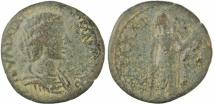 Ancient Coins - Julia Domna, Carallia (Cilicia), AE unit, Demeter with torch, 193-217 AD, Rare !