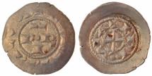 Hohenstaufen Dynasty in Lombardy, i.n.o Frederick II of Swabia, AR Denaro Scodellato, Brescia, 1186-1254 AD