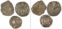 Ancient Coins - [LOT OF 3] Three obols: Laranda in Lycaonia, Selge in Pisidia and Kyzikos in Mysia