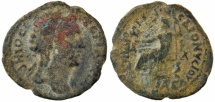 Ancient Coins - Kotyaion = Cotiaeum (Phrygia), Archon Diogenes, Pseudo-autonomous under Valerian, AE25 unit, Demos / Zeus, 253-260 AD, Scarce