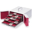 "Us Coins - Cargo MB5 aluminum coin case with 5 coin boxes for 2x2"" coin holders"
