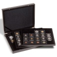 "Us Coins - Volterra Trio de Luxe presentation case for 60 coin holders 2x2""  with 3 trays"