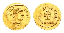 Ancient Coins - Constans II AD 641-668, Gold Tremissis (15mm, 1,45 gram) Constantinopolis