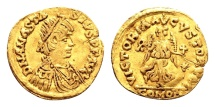 Ostrogoths, Theoderic AD 493-526, Gold Tremissis (14/15mm, 1.40 g) Rome