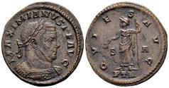 Ancient Coins - Maximian AD 286-310, AE Follis (26mm, 6.89 gram) Trier AD 307-08