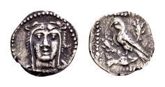 Ancient Coins - Cilicia, Uncertain. AR Obol (12mm, 0.42 gram) circa 4th century BC