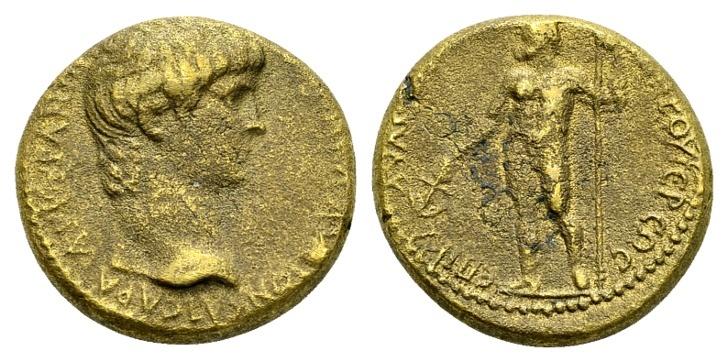 Ancient Coins - Phrygia, Ankyra. Nero AD 54-68, AE 18mm (5.51 g), Klaudios Artemidoros, priest
