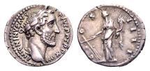 Ancient Coins - Antoninus Pius AD 138-161, AR Denarius (18mm, 3.23 gram) Rome AD 150-51