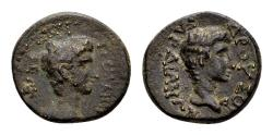 Ancient Coins - Lydia, Sardis. Germanicus and Drusus, AE 16mm (2.68 gram) struck by Tiberius AD 14-37 n.Chr.