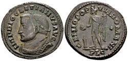Ancient Coins - Diocletian AD 284-305, AE Follis (29mm, 10.88 gram) Lugdunum AD 303-05