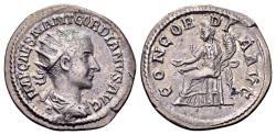 Ancient Coins - Gordian III AD 238-244, AR Antoninianus (22mm, 4.04 gram) Antioch