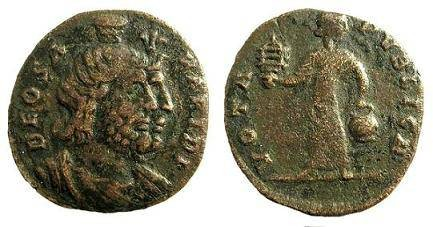 Ancient Coins - Festival of Isis coinage, c. mid 4th century AD. AE (orichalcum) 20.2mm / Jugate busts of Serapis and Isis