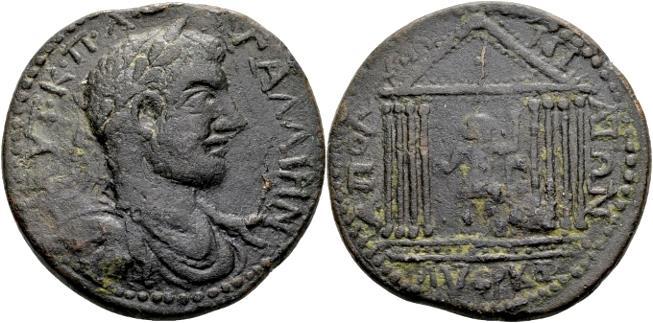 Ancient Coins - Pisidia. Apollonia Mordiaeum. Gallienus AD 253-268, AE 39mm (32.47 gram)