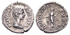 Ancient Coins - Plautilla, wife of Caracalla, died AD 212, AR Denarius (3.20 gram) Rome