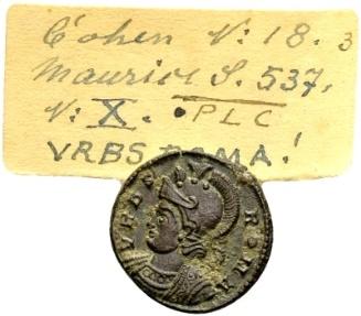 Ancient Coins - 'Urbs Roma' Commemorative AE Follis Lugdunum / Ex Lückger
