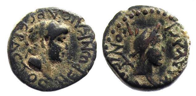 Ancient Coins - Lycaonia, Iconium as Claudiconium. Nero AD 54-68, AE 20mm (5.90g)