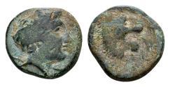 Ancient Coins - Thessaly, Pherae. AE (15mm, 4.44 gram) c. 4th century BC
