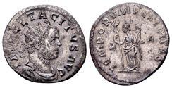 Ancient Coins - Tacitus 275-276, AE silvered Antoninianus (22mm, 4.03 gram) Lugdunum
