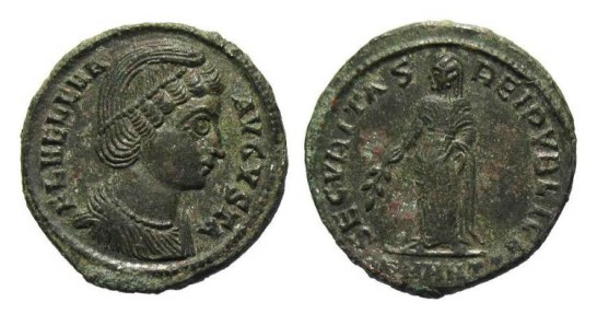 Ancient Coins - Helena, mother of Constantine the Great AD 307-337, AE Follis Antioch AD 327-28
