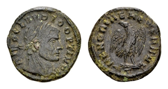 Ancient Coins - Divus Claudius II Gothicus, died 270 AD, AE ½ Follis Rome 317-18 / Ex Lückger