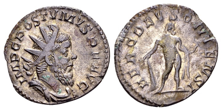 Ancient Coins - Postumus AD 260-269, AR Antoninianus (22mm, 3.14 g) Cologne