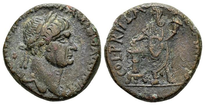 Ancient Coins - Judaea, Caesarea Maritima. Trajan AD 98-117, AE 24mm (13.77 g) / RPC cited