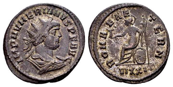 Ancient Coins - Numerian AD 283-284, AE silvered Antoninianus (23mm, 3.28 g) Ticinum