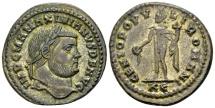 Ancient Coins - Maximianus 286-310, AE silvered Follis (28mm, 11,96 gram) Cyzicus c. 295-96