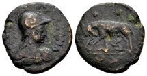 Ostrogoths. Athalaric AD 526-534, AE 20 Nummi or ½ Follis (22mm, 7.09 g) Rome
