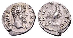 Ancient Coins - Divus Lucius Verus, died AD 169, AR Denarius (3.24g, 19mm)