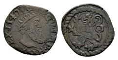 World Coins - Low Countries. Spanish Netherlands, Brabant. Charles V AD 1506-1555, AE Courte / Korte (18mm, 2.11 gram)