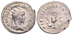 Ancient Coins - Herennius Etruscus caesar 250-251 AD, AR Antoninianus (22mm, 3.85 gram) Rome