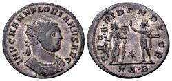Ancient Coins - Florian AD 276, AE silvered Antoninianus (24mm, 3.13 gram) Serdica