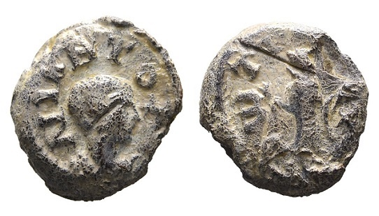 Ancient Coins - Niketes Zotikos. Roman lead seal 4th-5th century AD